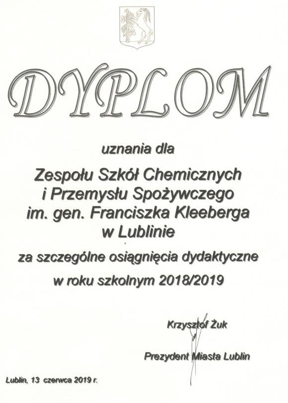 Wyróżnieni przez Prezydenta Miasta Lublin
