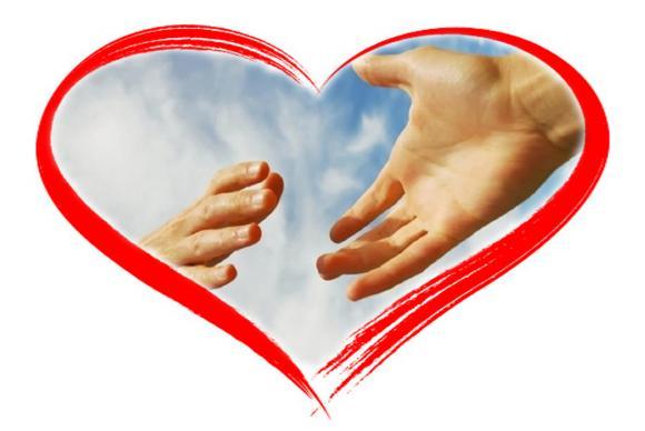 pomocna dłoń w sercu