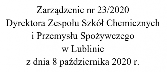 Zarządzenie nr 23/2020