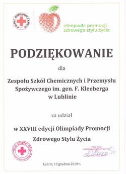 XXVIII Ogólnopolska Olimpiada Promocji Zdrowego Stylu Życia PCK