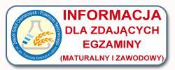 Informacja dla zdających egzaminy