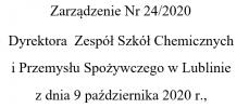 Zarządzenie Nr 24/2020